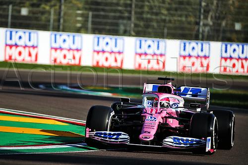 31st October 2020, Imola, Italy; FIA Formula 1 Grand Prix Emilia Romagna, Free Practise sessions;  11 Sergio Perez MEX, BWT Racing Point F1 Team