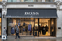 General view of the BOSS store in Regent Street as Beast from the East weather continues at City of London, London, England on 1 March 2018. Photo by Andy Rowland.