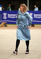 Pictured: Bethan Jenkins AM arrives at Swansea University Bay Campus. Saturday 14 October 2017<br /> Re: Hilary Clinton, the former US secretary of state and 2016 American presidential candidate will be presented with an honorary doctorate during a ceremony at Swansea University's Bay Campus in Wales, UK, to recognise her commitment to promoting the rights of families and children around the world.<br /> Mrs Clinton's great grandparents were from south Wales.