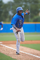 Toronto Blue Jays 16 year old international signing Vladimir Guerrero Jr (27) during an instructional league game against the Philadelphia Phillies on September 28, 2015 at Englebert Complex in Dunedin, Florida.  (Mike Janes/Four Seam Images)