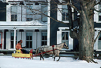 Horse and sleigh in Jericho, Vt