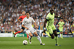 Real Madrid's Lucas Vazquez and Manchester City's Yaya Toure during Champions League 2015/2016 Semi-Finals 2nd leg match at Santiago Bernabeu in Madrid. May 04, 2016. (ALTERPHOTOS/BorjaB.Hojas)