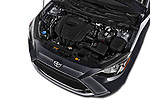 Car stock 2018 Toyota Yaris LE 4 Door Sedan engine high angle detail view