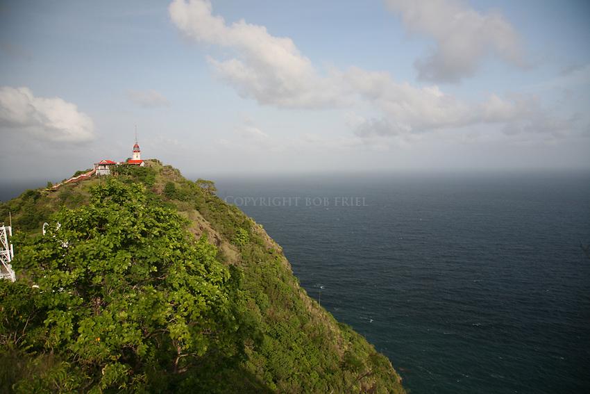 Lighthouse on Vigie Promontory, St. Lucia