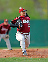 30 April 2008: University of Massachusetts Minutemen pitcher Nick Serino, a Freshman from Saugus, MA, in action against the University of Vermont Catamounts at Historic Centennial Field in Burlington, Vermont. The Catamounts recorded a season-high 19 hits as they defeated the Minutemen 17-4 in their last NCAA non-conference game of the year...Mandatory Photo Credit: Ed Wolfstein Photo