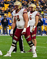Boston College offensive tackle Tyler Vrabel (78). The Boston College Eagles defeated the Pitt Panthers 26-19 in the football game played at Heinz Field, Pittsburgh Pennsylvania on November 30, 2019.