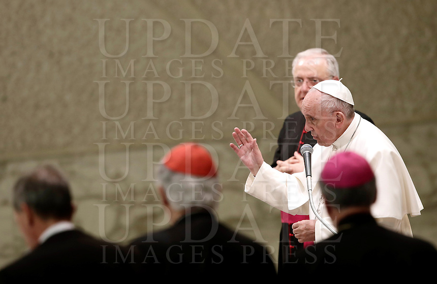 Papa Francesco tiene un' udienza speciale con le vittime del terremoto che ha colpito l'Italia centrale in Aula Paolo VI, Città del Vaticano, 5 gennaio 2017.<br /> Pope Francis leads a special audience with residents of the areas of central Italy hit by earthquakes in Paul Vi Hall at Vatican, on January 5, 2017.<br /> UPDATE IMAGES PRESS/Isabella Bonotto<br /> <br /> STRICTLY ONLY FOR EDITORIAL USE Papa Francesco tiene un'udienza speciale con le vittime del terremoto che ha colpito l'Italia centrale in Aula Paolo VI, Città del Vaticano, 5 gennaio 2017.<br /> Pope Francis leads a special audience with residents of the areas of central Italy hit by earthquakes in Paul Vi Hall at Vatican, on January 5, 2017.<br /> UPDATE IMAGES PRESS/Isabella Bonotto Papa Francesco tiene un'udienza speciale con le vittime del terremoto che ha colpito l'Italia centrale in Aula Paolo VI, Città del Vaticano, 5 gennaio 2017.<br /> Pope Francis leads a special audience with residents of the areas of central Italy hit by earthquakes in Paul Vi Hall at Vatican, on January 5, 2017.<br /> UPDATE IMAGES PRESS/Isabella Bonotto<br /> <br /> STRICTLY ONLY FOR EDITORIAL USE Papa Francesco tiene un'udienza speciale con le vittime del terremoto che ha colpito l'Italia centrale in Aula Paolo VI, Città del Vaticano, 5 gennaio 2017.<br /> Pope Francis leads a special audience with residents of the areas of central Italy hit by earthquakes in Paul Vi Hall at Vatican, on January 5, 2017.<br /> UPDATE IMAGES PRESS/Isabella Bonotto