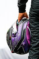 15th July 2021, Silverstone Circuit, Northampton, England;  HAMILTON Lewis (gbr), Mercedes AMG F1 GP W12 E Performance helmet, casque, during the Formula 1 Pirelli British Grand Prix 2021, 10th round of the 2021 FIA Formula One World Championship