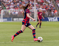 EAST HARTFORD, CT - JULY 5: Rose Lavelle #16 of the USWNT dribbles during a game between Mexico and USWNT at Rentschler Field on July 5, 2021 in East Hartford, Connecticut.