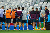 Steven Gerrard of England walks out to join his team mates before training