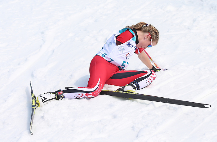 Emily Young, PyeongChang 2018 - Para Nordic Skiing // Ski paranordique.<br /> Emily Young competes in the women's 15km cross country race // Emily Young participe au course 15 km de cross-country féminin. 12/03/2018.
