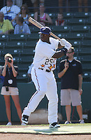 Potomac Nationals outfielder Michael Burgess of the Carolina League All- Stars hitting in the home run derby contest before the California League vs. Carolina League All-Star game held at BB&T Coastal Field in Myrtle Beach, SC on June 22, 2010.  The California League All-Stars defeated the Carolina League All-Stars by the score of 4-3.  Photo By Robert Gurganus/Four Seam Images