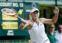 28-6-06,England, London, Wimbledon, first round match,  Michaella Krajicek on a unlucky court 13