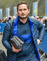 Frank Lampard Manager of Chelsea arriving on the coach during the Premier League match between Brighton and Hove Albion and Chelsea at the American Express Community Stadium, Brighton and Hove, England on 1 January 2020. Photo by Edward Thomas / PRiME Media Images.