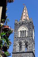 Kirchturm von San Martino in Randazzo, Sizilien, Italien