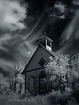 Abandoned Church, Hesperus, Colorado (Infrared) ©2016 James D Peterson.  The community that once enlivened this building is long gone, but if you listen carefully you might still hear its faint echoes.