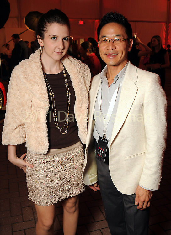 Heather Swinney and Dr. Cecil Yeung at the fourth night of Fashion Houston at the Wortham Theater Wednesday Oct. 12,2011.(Dave Rossman/For the Chronicle)