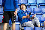 Ross County v St Johnstone…31.07.21  Global Energy Stadium<br />A happy saints fan in the away stand<br />Picture by Graeme Hart.<br />Copyright Perthshire Picture Agency<br />Tel: 01738 623350  Mobile: 07990 594431