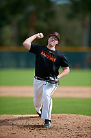 Nathan Labonte (68) of Raynham, Massachusetts during the Baseball Factory Pirate City Christmas Camp & Tournament on December 28, 2018 at Pirate City in Bradenton, Florida. (Mike Janes/Four Seam Images)