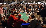 A view of play on the tables.