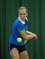 10-3-06, Netherlands, tennis, Rotterdam, National indoor junior tennis championchips, Mirte de Bakker