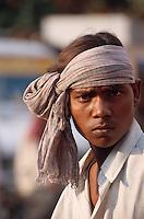Indien, Rajasthan, Jaipur, Rikschafahrer