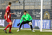 Chester, PA - Friday December 08, 2017: Trey Muse during an NCAA Men's College Cup semifinal soccer match between the North Carolina Tar Heels and the Indiana Hoosiers at Talen Energy Stadium.