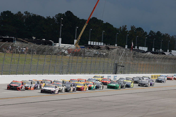 #20: Christopher Bell, Joe Gibbs Racing, Toyota Camry Rheem, #11: Denny Hamlin, Joe Gibbs Racing, Toyota Camry FedEx Express