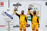 #40: JDC MotorSports Duqueine M30-D08, P3-1: Keith Grant, David Grant, podium, Bronze Cup