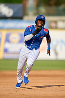South Bend Cubs Alexander Canario (35) running the bases during a game against the Quad Cities River Bandits on August 20, 2021 at Four Winds Field in South Bend, Indiana.  (Mike Janes/Four Seam Images)