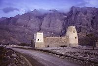 Bukha, Oman.  Bukha Fort in 1985, prior to restoration.