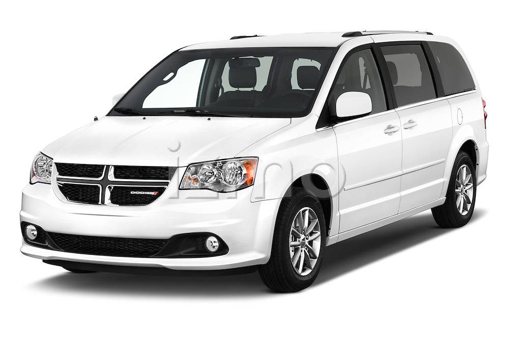 2018 Dodge Grand-Caravan SXT 5 Door Minivan Angular Front stock photos of front three quarter view