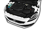 Car Stock 2017 Volvo V40-Cross-Country - 5 Door Wagon Engine  high angle detail view