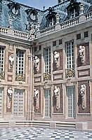 Detail: Palace of Versailles, 1669-1685, Seine-et-Olse, France. Designed by Louis Le Vau and Jules Hardouin-Mansart.