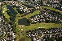 Aerial photo of a Charlotte neighborhood taken May 2008.