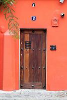 Antigua, Guatemala.  Doorway of Private Residence.