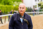 JUNE 05, 2019 : Trainer Mark Casse, for War of Will, morning workouts for Belmont Stakes contenders at Belmont Park, on June 5, 2019 in Elmont, NY.  Sue Kawczynski_ESW_CSM