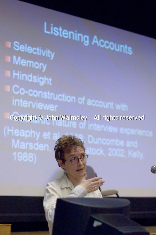 Catherine Donovan at the Sex & Relationships Education Conference at the Institute of Education, London.
