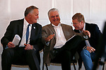 From left, U.S. Mint Director David Ryder, Nevada Gov. Steve Sisolak and Congressman Mark Amodei talk during the celebration of the 150th year of the Carson City Mint, in Carson City, Nev. on Tuesday, Feb. 4, 2020. <br /> Photo by Cathleen Allison/Nevada Momentum