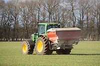 26-3-2021 Applying Ammonium Nitrate to Winter cereals in Lincolnshire <br /> ©Tim Scrivener Photographer 07850 303986<br />      ....Covering Agriculture In The UK....