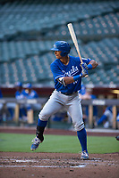 Kansas City Royals outfielder Anderson Miller (16) at bat during an Instructional League game against the Arizona Diamondbacks at Chase Field on October 14, 2017 in Scottsdale, Arizona. (Zachary Lucy/Four Seam Images)