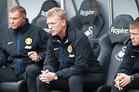 Saturday 17 August 2013<br /> <br /> Pictured: David Moyes fo Man UTD ( Centre ) <br /> <br /> Re: Barclays Premier League Swansea City v Manchester United at the Liberty Stadium, Swansea, Wales