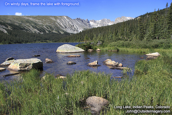 Long Lake and Framing Private photo tours to Indian Peaks. John offers private photo tours and workshops throughout Colorado. Year-round.
