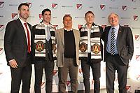 Philadelphia, PA - Thursday January 19, 2018: Carlos Bocanegra, Oliver Shannon, Gerardo Martino, Gordon Wild, Paul McDonough during the 2018 MLS SuperDraft at the Pennsylvania Convention Center.