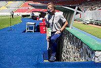 GUADALAJARA, MEXICO - MARCH 18: Jason Kreis head coach of the United States before a game between Costa Rica and USMNT U-23 at Estadio Jalisco on March 18, 2021 in Guadalajara, Mexico.