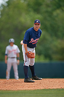 Atlanta Braves Thomas Burrows (65) during a minor league Spring Training game against the Detroit Tigers on March 25, 2017 at ESPN Wide World of Sports Complex in Orlando, Florida.  (Mike Janes/Four Seam Images)
