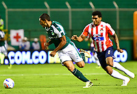 PALMIRA - COLOMBIA, 02-09-2018: Jose Sand (Izq) jugador de Deportivo Cali en acción durante el encuentro con Atlético Junior por la fecha 7 de la Liga Águila II 2017 jugado en el estadio Palmaseca de la ciudad de Palmira. / Jose Sand (L) player of Deportivo Cali in action during the match against Atletico Junior for the date 7 of the Aguila League II 2017 played at Palmaseca stadium in Palmira city.  Photo: VizzorImage/ Nelson Rios / Cont