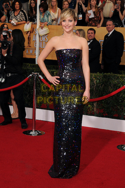 18 January 2014 - Los Angeles, California - Jennifer Lawrence. 20th Annual Screen Actors Guild Awards - Arrivals held at The Shrine Auditorium. Photo Credit: Byron Purvis/AdMedia<br /> CAP/ADM/BP<br /> ©Byron Purvis/AdMedia/Capital Pictures