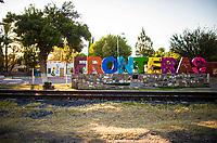 Monumental letters of colors in the community of Fronteras, Sonora, Mexico. October 9, 2020<br /> (Photo By Luis Gutierrez / Norte Photo)<br /> <br /> <br /> Letras Monumentales de colores en  la comunidad de Fronteras, Sonora, Mexico.  9 cotubre 2020<br /> (Photo By Luis Gutierrez/Norte Photo)