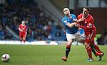 Jonathan Brown runs into Nicky Law for a free-kick